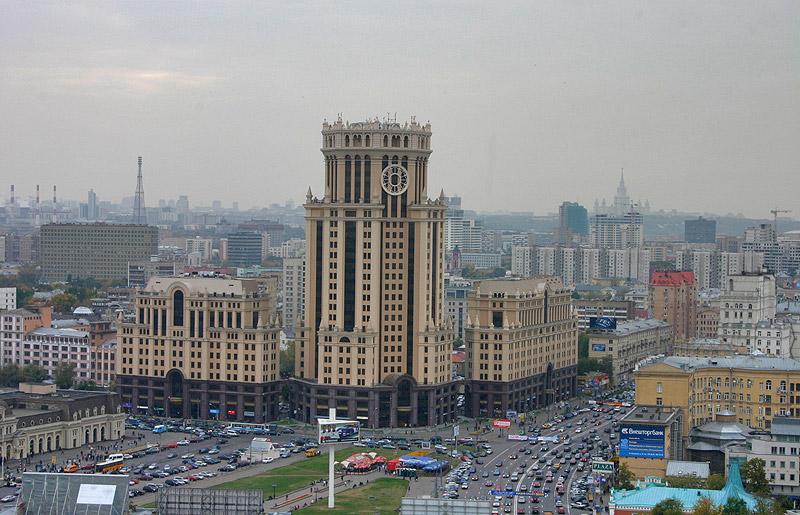 Площадь Павелецкого вокзала - Москва - фото.